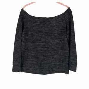 High street heathered grey off the shoulder top